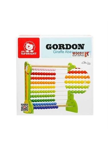 Sunman Sunman Gordon Ahşap Zürafalı Eğitici Abaküs Renkli